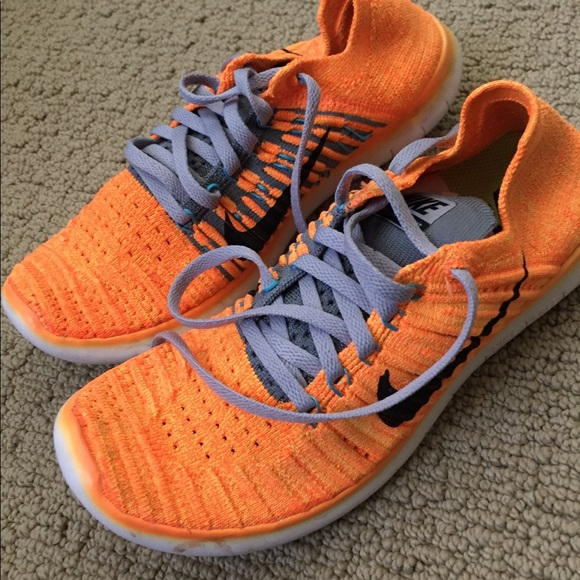 Nike Shoes Free Rn Flyknit Orange Poshmark